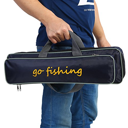 Vbestlife Fishing Rod Case Carrier Bag Portable Waterproof Fishing Rod Reel Bag Case Storage Bags Box Carry Holder Tackle Bag Backpack for Travel with Adjustable Strap (Rod Case Telescoping)