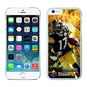 Pittsburgh Steelers Mike Wallace Case Cover For Apple Iphone 4/4S NFL Cases White NIC14107