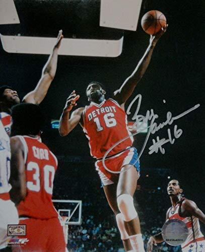 Autographed Bob Lanier Photo - 8X10 In Air Slam Dunk w COA - Autographed NBA Photos