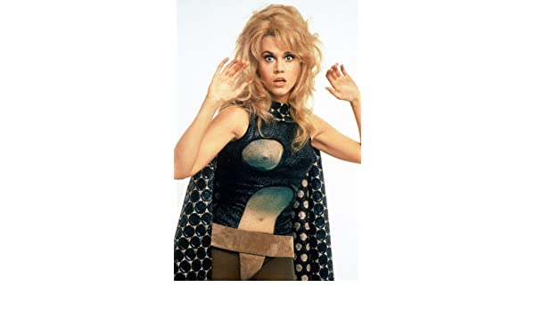 jane fonda iconic breast bared as barbarella 24x36 poster at amazons entertainment collectibles store