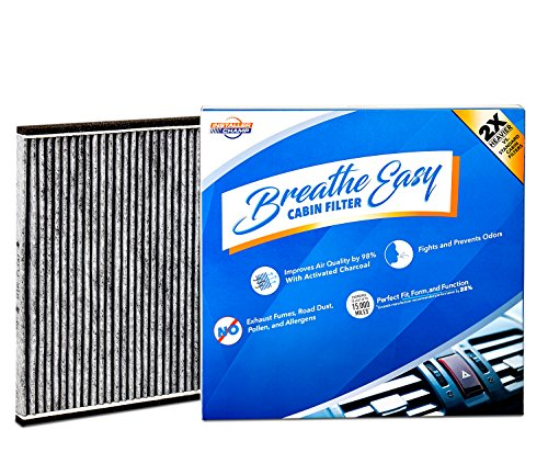Carbon Electrostatic Filters (Installer Champ Premium Breathe Easy Cabin Filter, Up to 25% Longer Life w/Activated Carbon (BE-132))