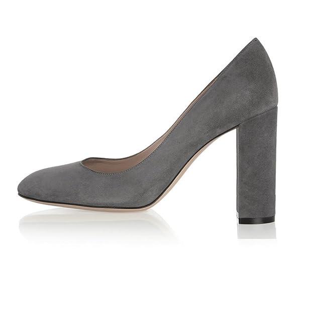 elashe Scarpe da Donna - Scarpe col Tacco - 10CM Classiche Tacco a Blocco - delle  Donne Tacchi Spessi  Amazon.it  Scarpe e borse c5363732936