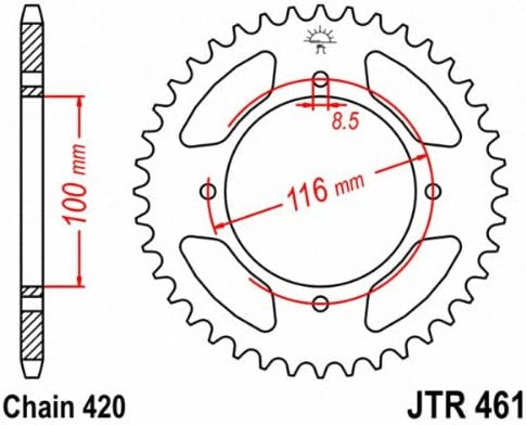 Jt-Sprockets jtr 461-48 Sprocket