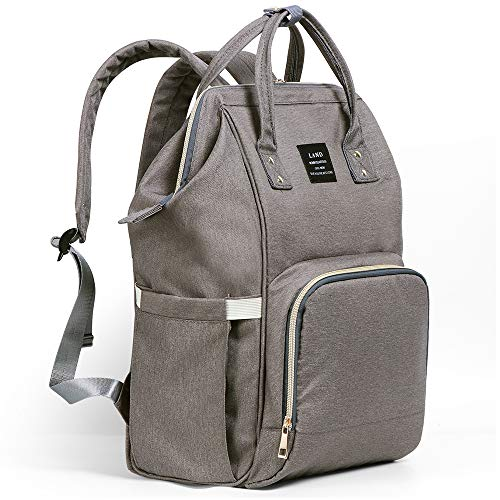Ticent Baby Diaper Bag, Multi-Function Waterproof Travel Backpack Nappy Back Pack Bags for Baby Care - Large Capacity, Stylish and Durable, Dark Gray ()