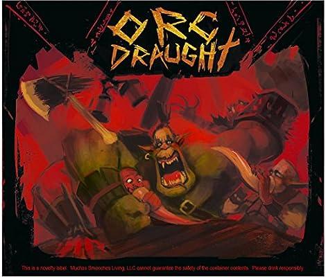 "7/"" x 6/"" Dragon Orc 4 Soda Bottle Labels for Fantasy Themed Party Dwarf Elf"