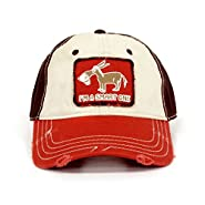 """I""m a Smart One"" Distressed Hat Red"