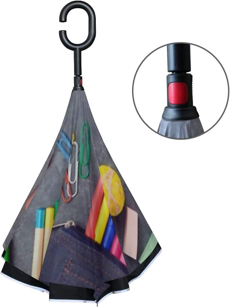 Double Layer Inverted Inverted Umbrella Is Light And Sturdy Back School Background Supplies Above Flat Reverse Umbrella And Windproof Umbrella Edge N