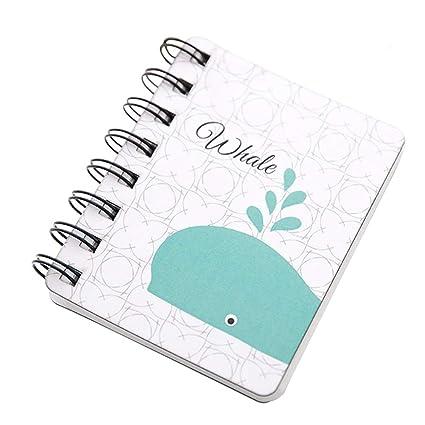 itemer 1pc Cute Mini Notebook Cartoon patrón en espiral notebooks ...