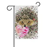 My Little Nest Double Sided Indoor Outdoor House Flag Watercolor Hedgehog Fade Resistant Seasonal Holiday Decorative Yard Flag 28×40 Review