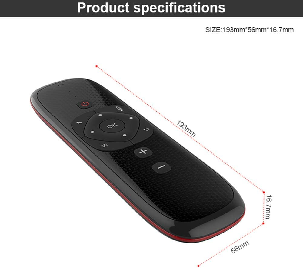 CIGOO W2 2.4G Air Mouse Wireless Keyboard with Touchpad Mouse Infrared Remote Control for Android TV Box PC Projector Russian Version