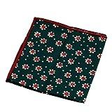 Mimgo Store 1pc Cotton Floral Pocket Square Handkerchief Wedding Hanky Party Multicolor (2)