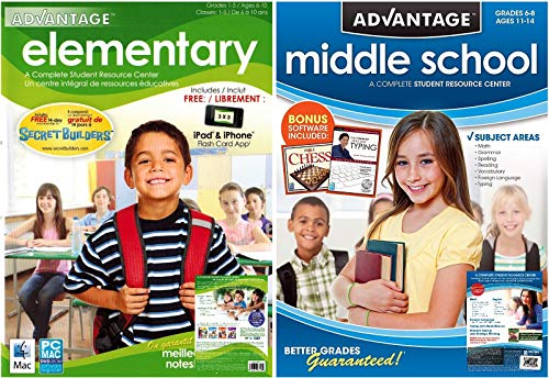 Advantage Elementary / Middle School Student Resource Centers – Grade School Learning Software Bundle