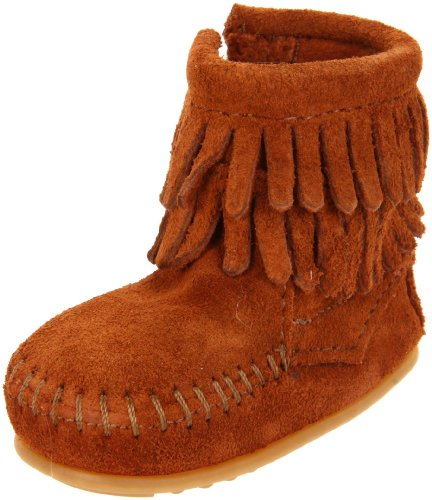 Minnetonka Double Fringe Bootie (Infant/Toddler),Brown,6 M US Toddler]()
