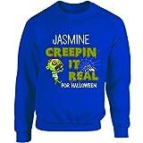 Jasmine Creepin It Real Funny Halloween Costume Gift - Adult Sweatshirt