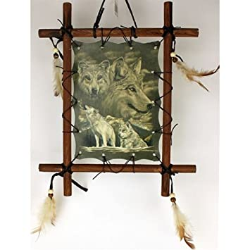 Amazon Com Obi 1 X Framed Indian Wolves Picture 9 X 11inch