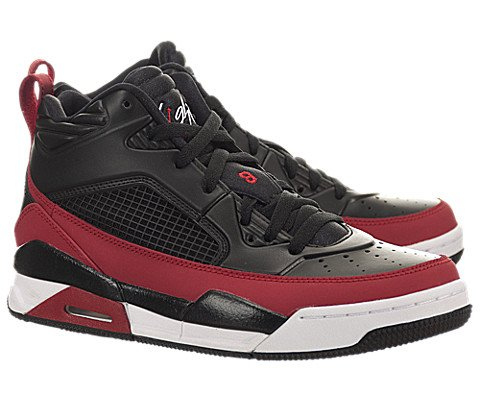 Jordan Nike Kids Flight 9.5 Bg Black/Gym Red/White Basketball Shoe 7 Kids US