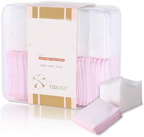 Facial Cotton Pads Almohadillas de algodón Desmaquillante cosmético Nail-Art Cleasing Polish Pads-400 Piezas de algodón Fino Natural + 70 Piezas de algodón insertado a Mano: Amazon.es: Hogar