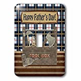 Beverly Turner Fathers Day Design - Tool Box, Hatchet, Drill, Hammer, Wrench, Pliers, Happy Fathers Day - Light Switch Covers - single toggle switch (lsp_239591_1)