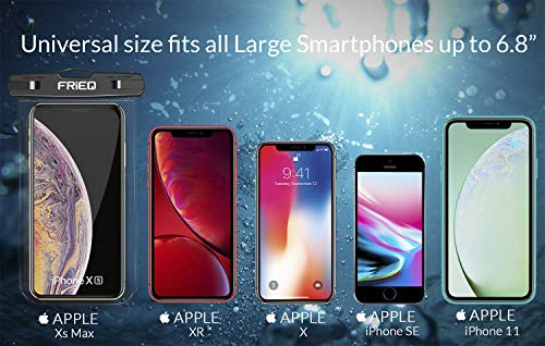 Waterproof Case 2 Pack for iPhone 12/12 Pro Max/11/11 Pro/SE/Xs Max/XR/8P/7 Galaxy up to 7″ (Black and Pink)