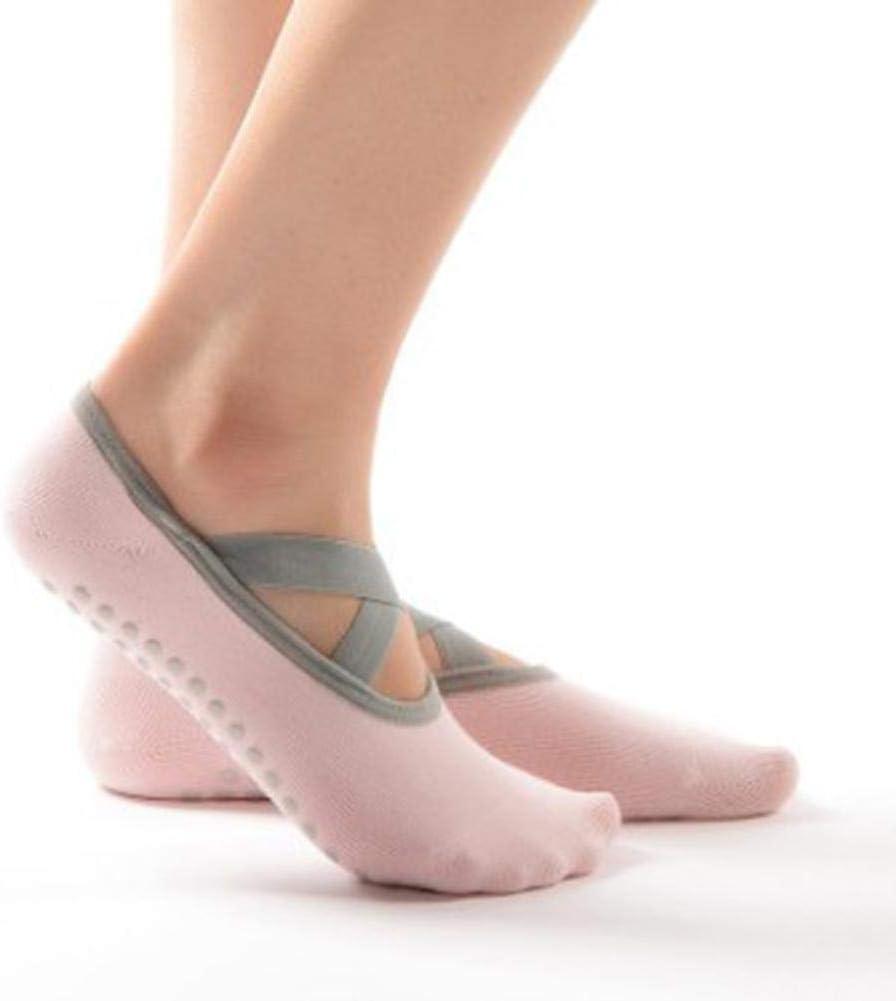 HELLOO HOME Le Yoga Chaussettes Antid/érapantes Femmes pour La Pratique du Ballet//Danse//Pieds Nus Taille Universelle