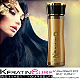 Keratin Cure 0% Formaldehyde Brazilian Hair Treatment Gold & Honey Bio-Brazilian Repair-Straightener Professional 160ml 5 fl oz Safe for Kids