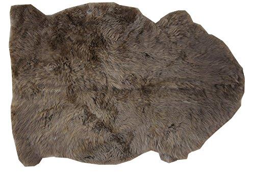 Schaffell Teppich KAFFEE Naturbunt ungefärbt naturbelassen braun Dekofell Länge 90 / 100 cm