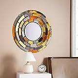 Southern Enterprises Baroda Round Decorative Wall Mirror