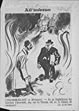 Vintage photo of Caricature Illustration of Arthur Neville Chamberlain and Churchill.