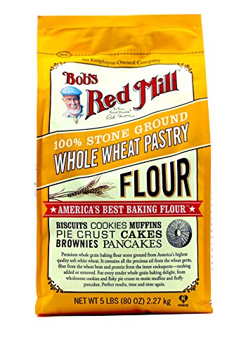 Whole Wheat Pastry Flour Muffins - Bob's Red Mill Pastry Flour Whole Wheat - 5 lb - 2 Pack