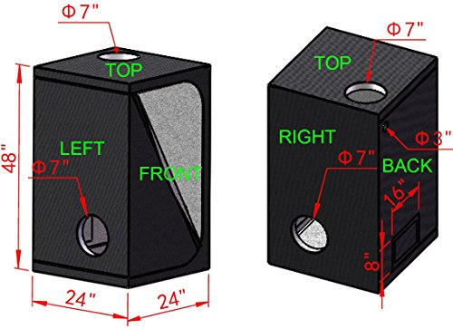 Buy led grow tent kit complete with light and fan
