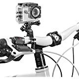Acessório para Câmera de Ação Suporte de Guidão para Bicicleta e Moto Fácil Instalação Compatível com GoPro, Atrio e Outras Câmeras Preto Atrio - ES070