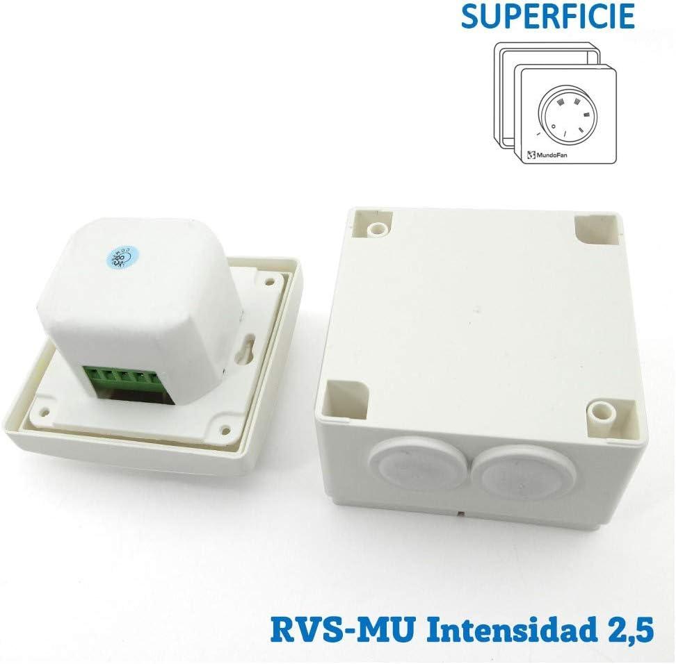 MUNDOFAN Regulador de Velocidad RVs-MU-2,5 Superficie: Amazon.es: Hogar