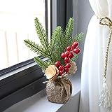 Xmas ornament Christmas Desk Decoration Mini Christmas Tree Ornament Party Christmas Gift (A)