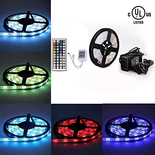 7d3f0db8aad BAILONGJU Led Strip Lights kit 10M 32.8 Ft 5050 RGB 300 LEDs Flexible Color  Changing Rope