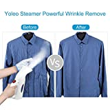 Clothes Steamer, Yoleo 130ML Fabric Steamer, Handled Portable Steamer, Fast Heat-up Powerful Travel Garment Steamer with High Capacity for Home and Travel, Heat Resistant Gloves Included