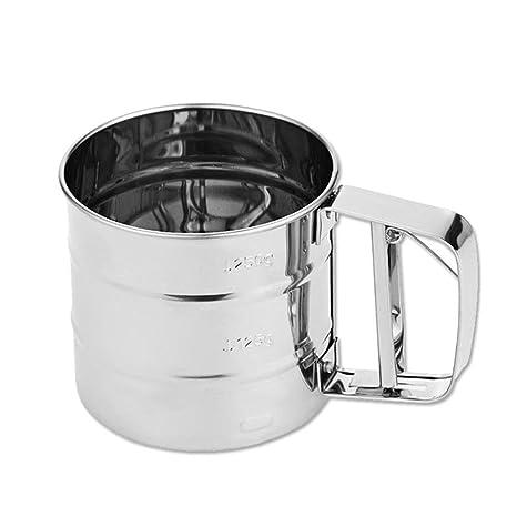 AOLVO - Dispensador de harina de Malla mecánico para Hornear glaseado y azúcar