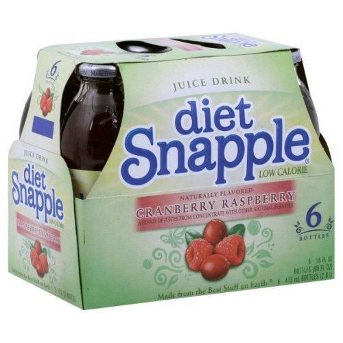 Snapple Tea 6 -16 Fl Oz, (Pack of 2) (Juice Drink Diet- Cranberry Raspberry)