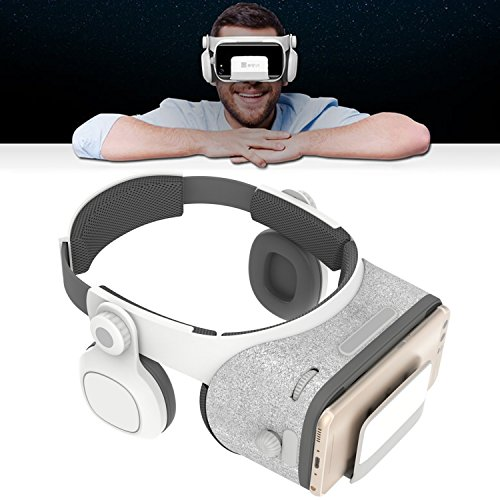 VR Virtual Reality Headset Glasses, 3D VR Headset with Headphones [720°3D HIFI Stereo Effect] to Watch 3D Movies/Videos/Games VR Goggles for Android Galaxy S8 S7 S6 Apple iPhone 7 Plus 7 6 [FOV 120°]