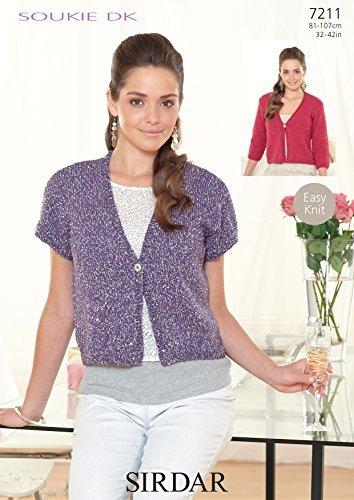 Sirdar Soukie Double Knit Pattern - 7211 Cardigans by (Sirdar Knit Pattern)