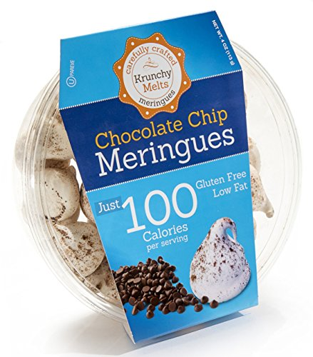 (Original Meringue Cookies (Chocolate Chip) • 100 calories per serving, Gluten Free, Low Fat, Nut Free, Low Calorie Snack, Kosher, Parve • by Krunchy Melts)