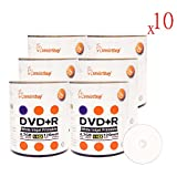 Smart Buy 6000 Pack DVD+R 4.7gb 16x White Printable Inkjet Blank Media Record Disc, 6000 Disc 6000pk