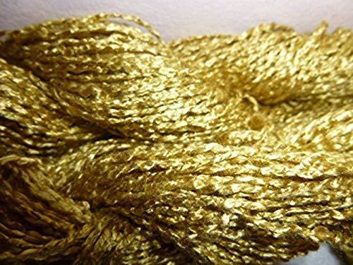 (Bright Gold Rayon Krinklespun Sports Weight Art Yarn )