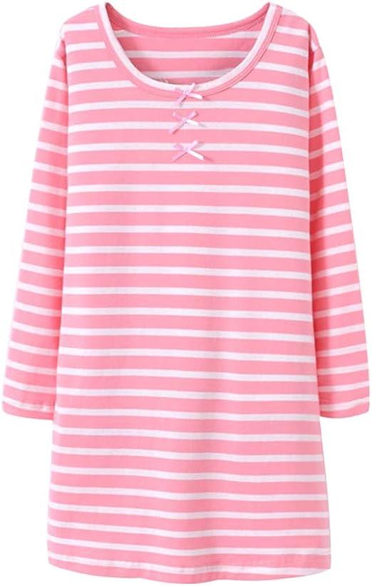 Camisón De Algodón para Niña Transpirable Pijama con Mangas Larga Lindo Ropa De Dormir: Amazon.es: Ropa y accesorios