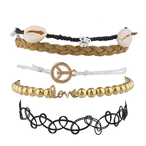 [Lux Accessories Hippie BFF Best Friends Forever Arm Candy Set (5PC)] (Arm Candy Costume)