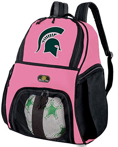 Broad Bay Girls Michigan State University Soccer Ball Backpack or Womens Volleyball Bag Ball Carrier