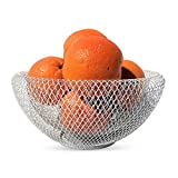 """Whole House Worlds The Iconic Modern Wire Mesh Fruit Bowl, Museum Style, Medium, 9 1/2"""", Powder Coated Iron, By"""