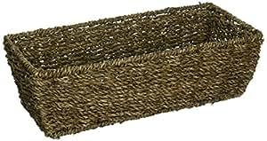 "Tag 340011 4"" H x 14"" L x 6.5"" W Rectangular Seagrass Basket, Small, Coffee"