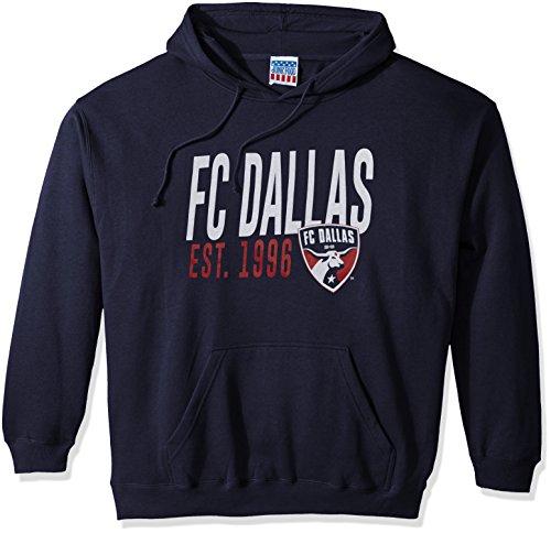 Junk Food MLS Fc Dallas Men's Long Sleeve Pullover Hoodie, Navy, Medium