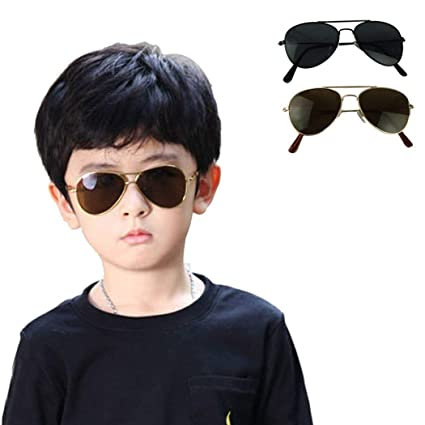 86c36767c65 Amazon.com  Voberry New Cool Fashion Mercury Ultraviolet-proof Goggles  Metal Frame Sunglasses For Children Kids