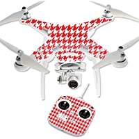 Skin For DJI Phantom 3 Standard – Red Houndstooth | MightySkins Protective, Durable, and Unique Vinyl Decal wrap cover | Easy To Apply, Remove, and Change Styles | Made in the USA